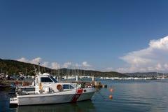 Small Harbor in Italy. Boats & Sailing - Boats in the harbor. Talamone, Tuscany, Italy Royalty Free Stock Photography