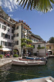 Small harbor on Lake Garda. Stock Image