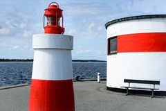 Small harbor light - Denmark Royalty Free Stock Photos