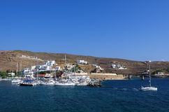 Small harbor in Loutra village, Kythnos island, Cyclades, Greece Royalty Free Stock Photography