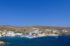 Small harbor in Loutra village, Kythnos island, Cyclades, Greece Royalty Free Stock Photo