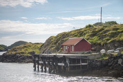 Small harbor in Northern Norway Royalty Free Stock Images
