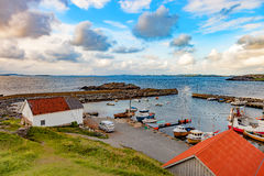 Small harbor in Norway Royalty Free Stock Images