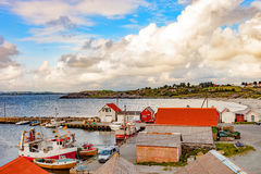 Small harbor in Norway Stock Images
