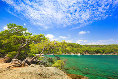 Small harbor in Phaselis Royalty Free Stock Photos