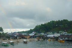 Small harbor of Siargao Stock Image
