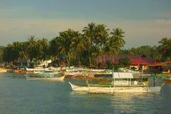 Small harbor of Siargao Royalty Free Stock Photography