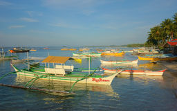 Small harbor of Siargao Royalty Free Stock Images