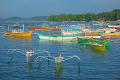 Small harbor of Siargao. Small Siargao harbor in the Philippines Stock Image