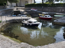 Small harbor for small boats Stock Image