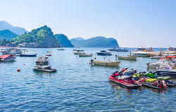 The small harbor Stock Photography