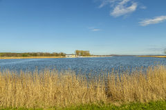 Small harbor of Zinnowitz at the backwater Royalty Free Stock Photography