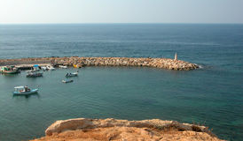 Small Harbour. Small marina at Akamas Peninsula (St, George) area in Cyprus Stock Images