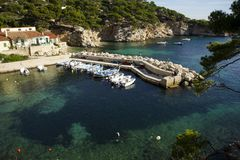 Small harbour in the French riviera Royalty Free Stock Photos