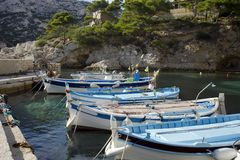 Small harbour in the French riviera Stock Image
