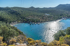 Small harbour. Kas, Turkey Royalty Free Stock Photography
