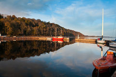 Small harbour in late afternoon Royalty Free Stock Image