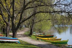 Small harbour in Lithuania Royalty Free Stock Photography