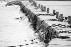 Small harbour pontoon Stock Images
