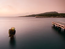 Small harbour at sunset Royalty Free Stock Photo