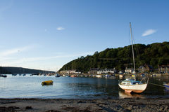 Small Harbour with Yachts. Small harbour near Fishguard in Wales with lots of moored yachts royalty free stock photos