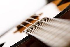 Small Hawaiian four stringed ukulele guitar Stock Photo