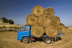 Small hay truck Stock Photos