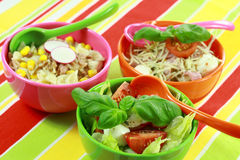 Small healthy salads stock image