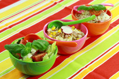 Small healthy salads Stock Photo