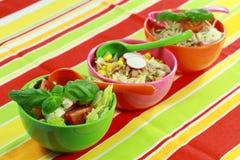 Small healthy salads stock photo