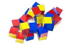 Small heap of color plastic bricks Royalty Free Stock Photo