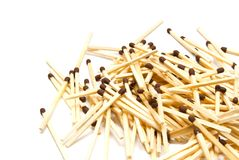 Small heap of many matches Stock Photo