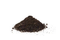 Small heap of soil for repotting Stock Photo