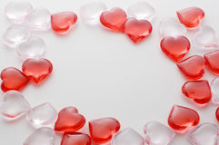 Small heart shape frame. Small heart-shaped goods Stock Photos