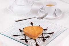 Small heart-shaped cake Royalty Free Stock Photo