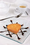 Small heart-shaped cake Stock Photo