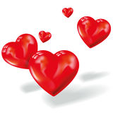 Small hearts in the air Royalty Free Stock Photo