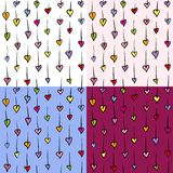 Small hearts seamless pattern Royalty Free Stock Image