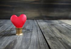 Small hearts on a wooden Royalty Free Stock Photo
