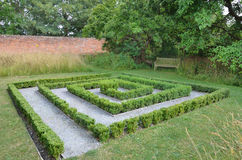 Small Hedge Maze. In formal garden Stock Photography