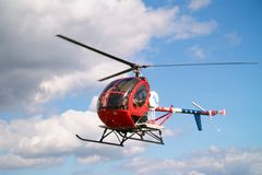 Small helicopter. In the sky Royalty Free Stock Photography
