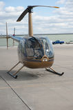 Small Helicopter in Airfield Royalty Free Stock Images