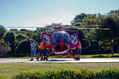 Small Helicopter in Foz do Iguassu Brazil Stock Photo