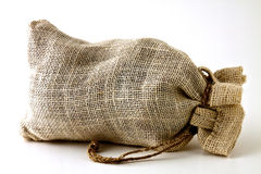 Small hemp bag Royalty Free Stock Photography