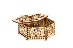 Small hexagon decorative box Stock Photography