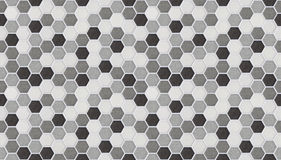 Small hexagonal tiles seamless of marble. Small hexagonal tiles seamless gray and black of marble Stock Photo