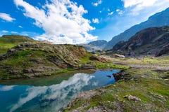 Small high mountain lake Royalty Free Stock Image