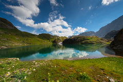 Small high mountain lake Royalty Free Stock Photo