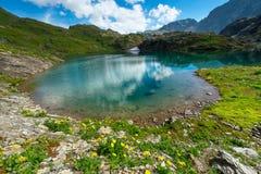 Small high mountain lake Stock Photo