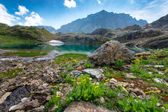 Small high mountain lake Stock Images